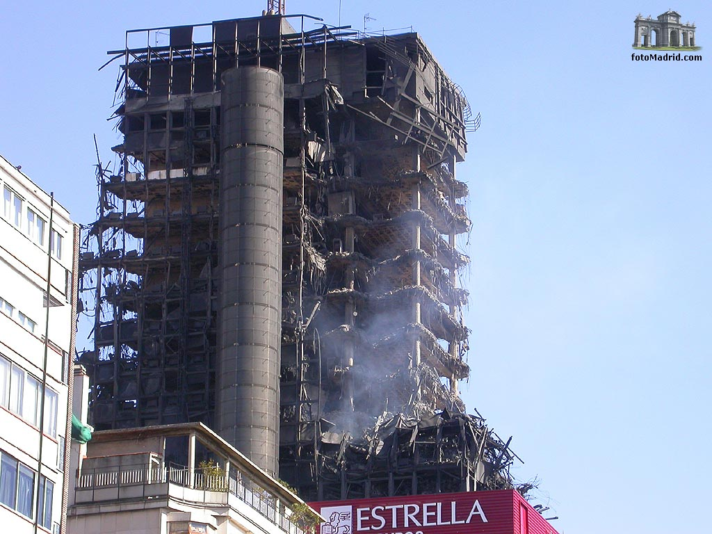 Edificio Windsor tras el incendio